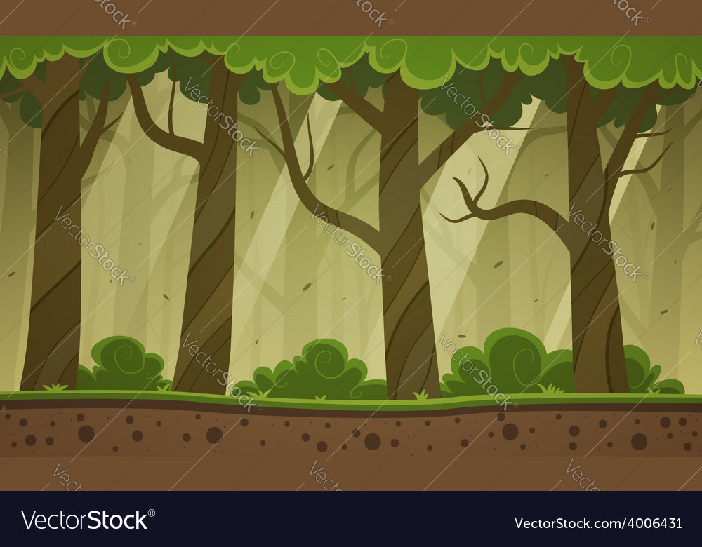 forest cartoon background royalty free vector image rh vectorstock com cartoon forest background hd cartoon forest background wallpaper