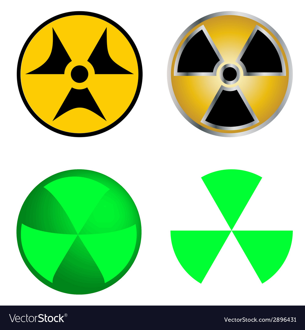 Isolated Symbols Of Radiation Royalty Free Vector Image