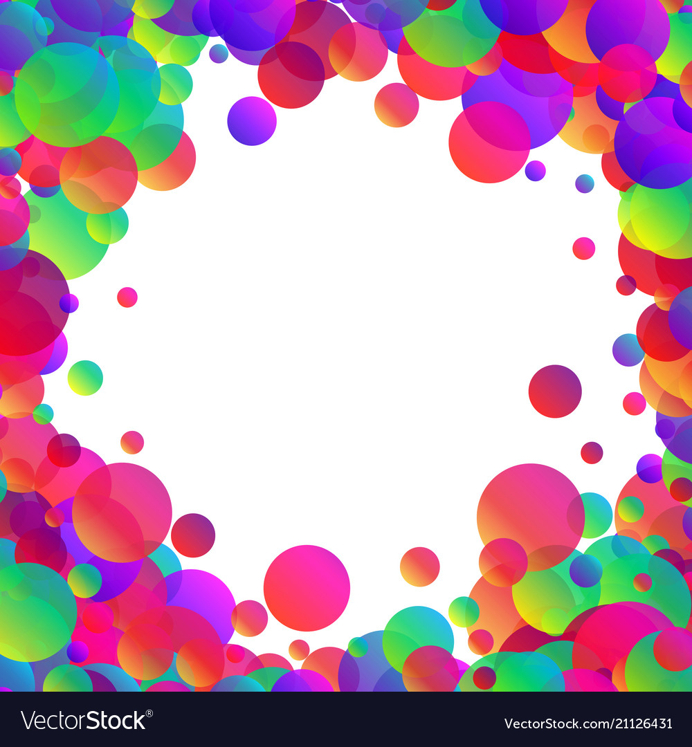 White background with colour bubbles