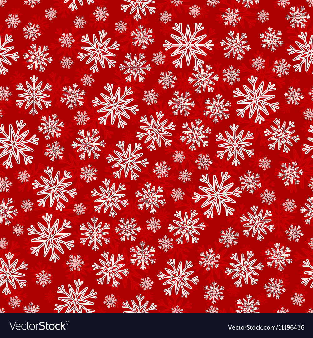 Christmas seamless pattern with white red