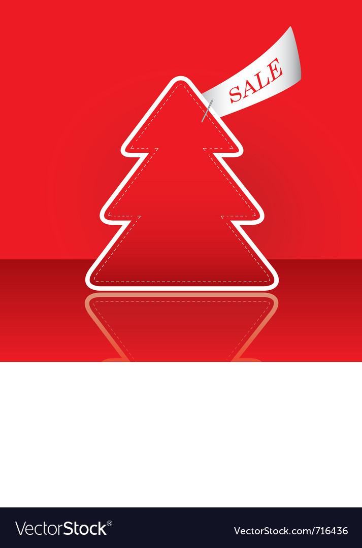 Christmas tree with sale tag