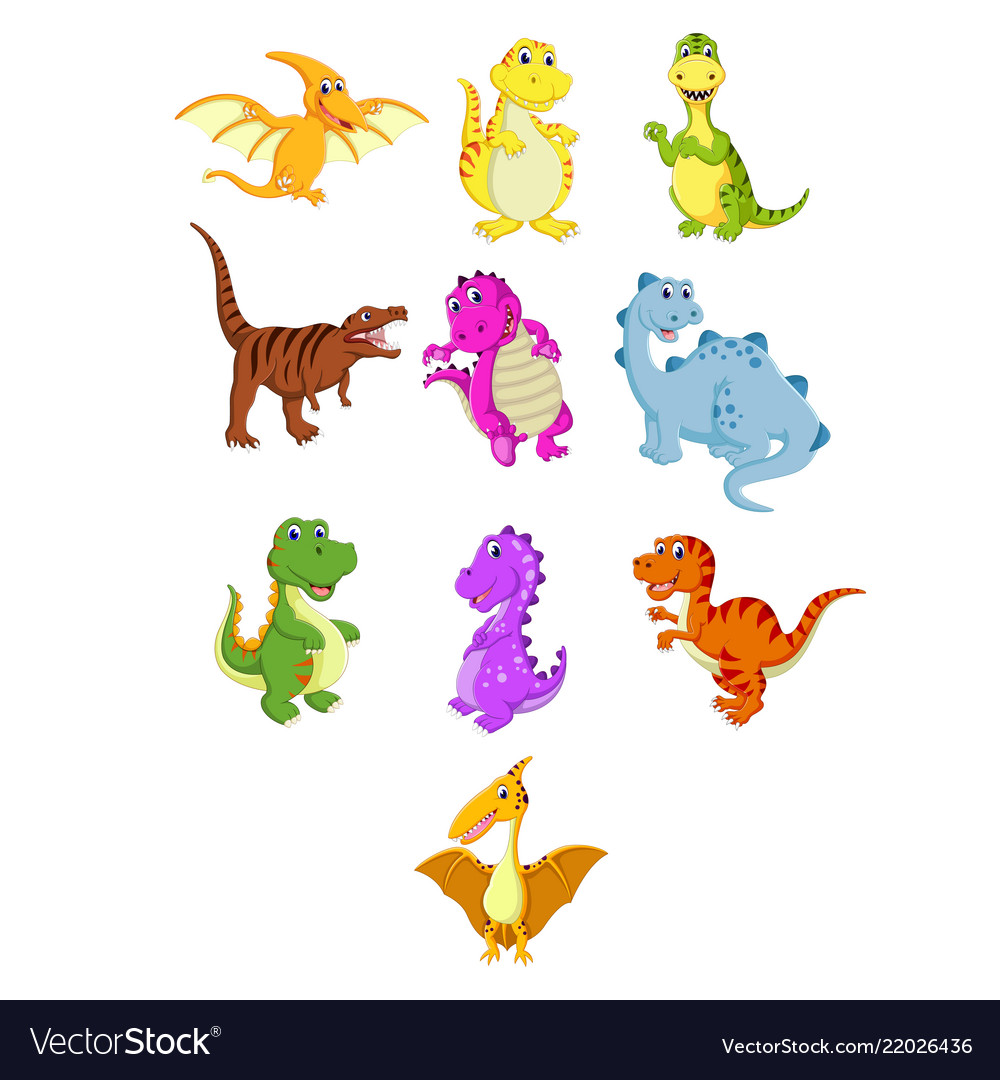 Collection of the little dinosaur