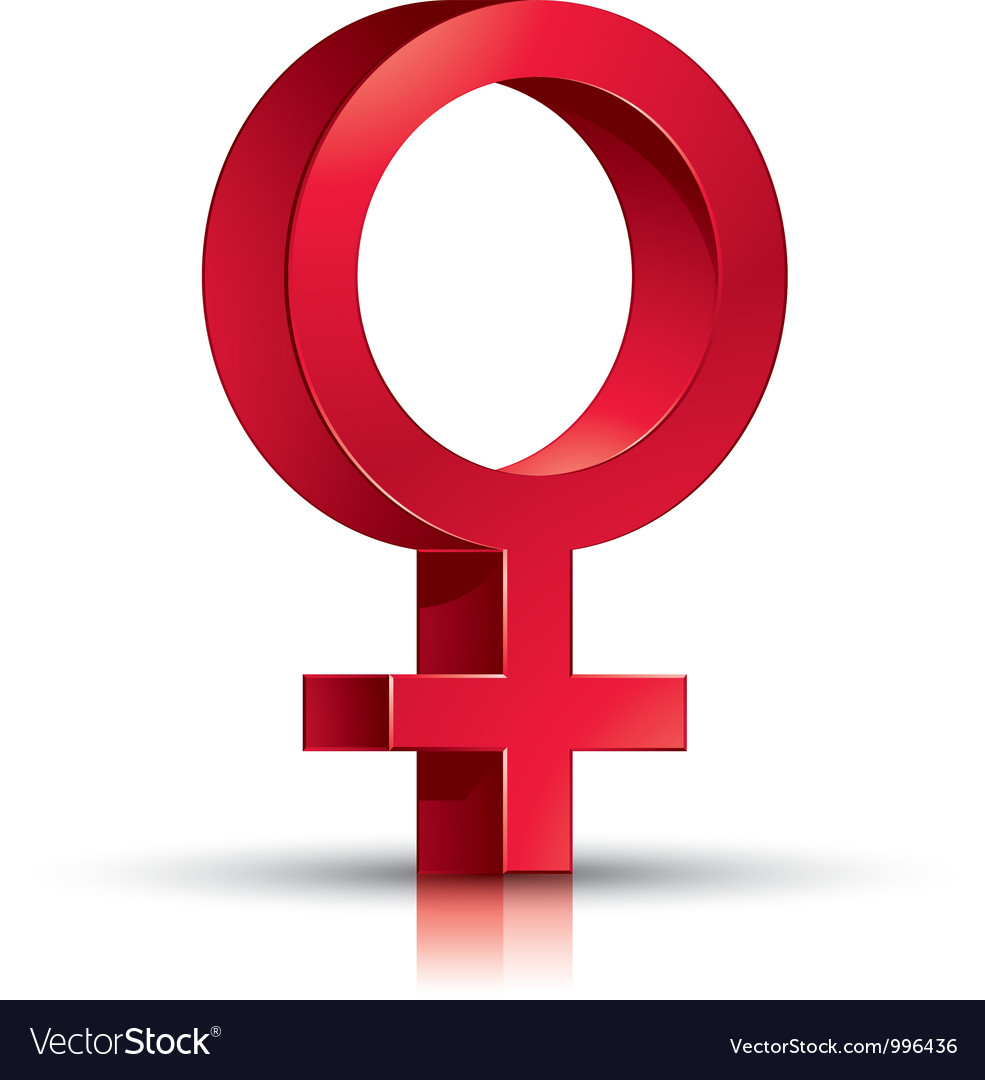 Female symbol vector image