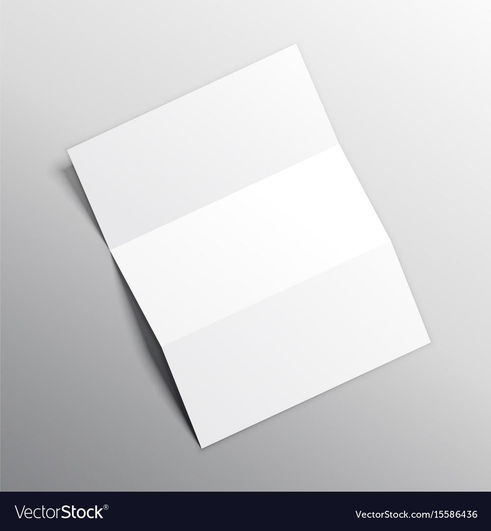 folded paper mockup design royalty free vector image