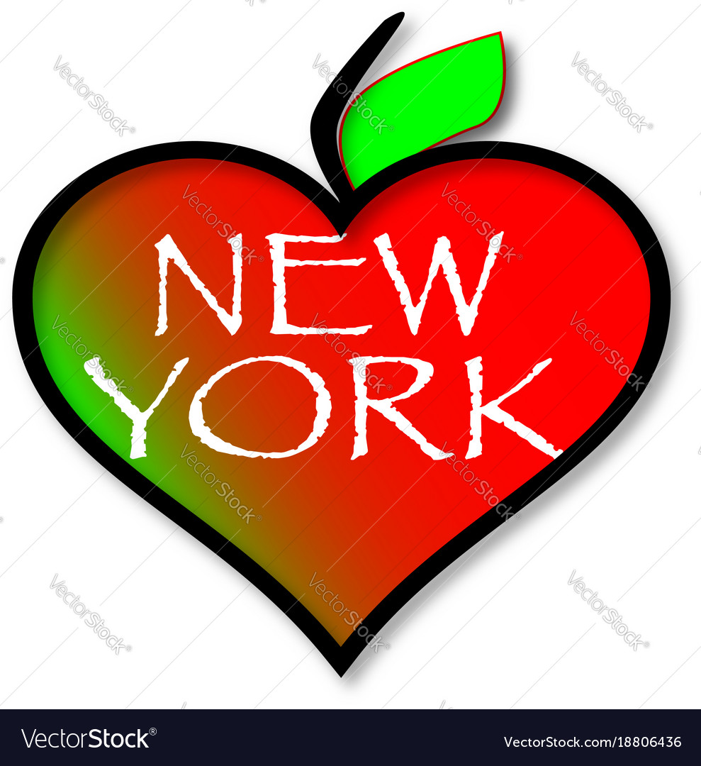 Love New York Royalty Free Vector Image Vectorstock