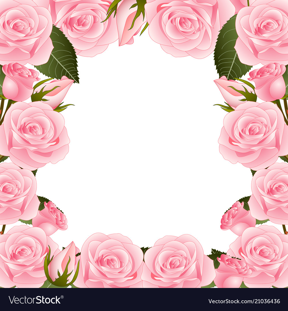 Pink Flowers Borders A...