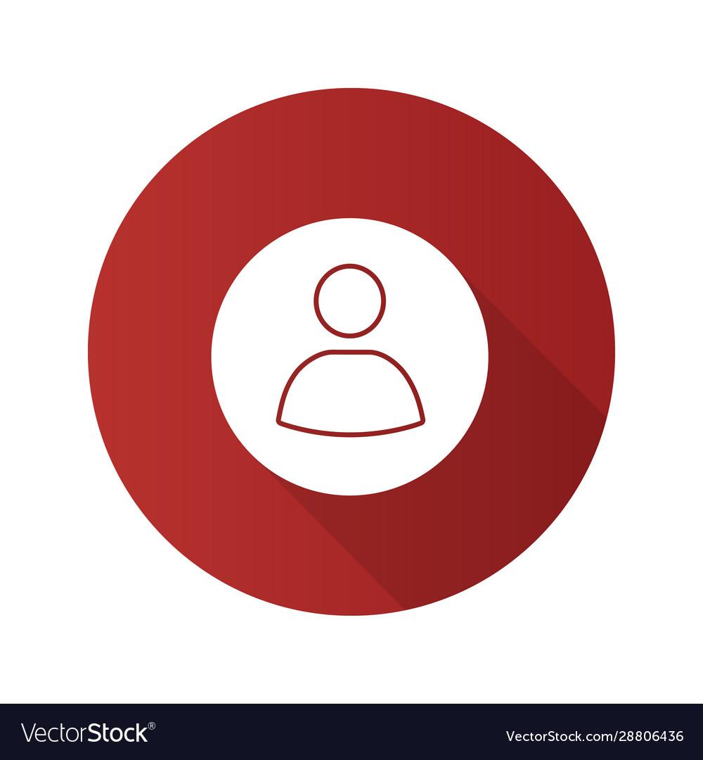 User account circle flat design long shadow glyph