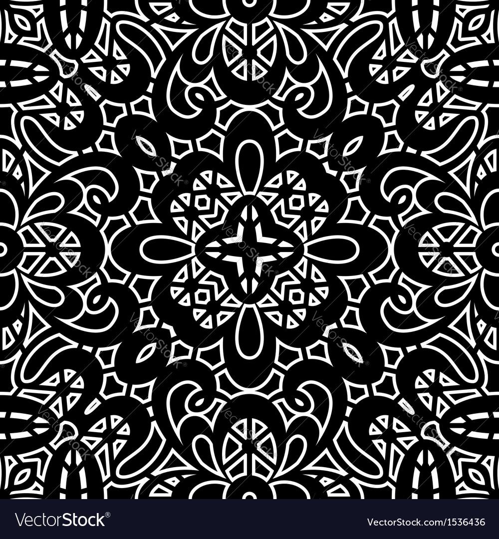 Vintage lace pattern vector image