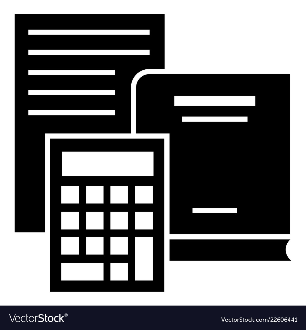 budget calculator icon simple style royalty free vector