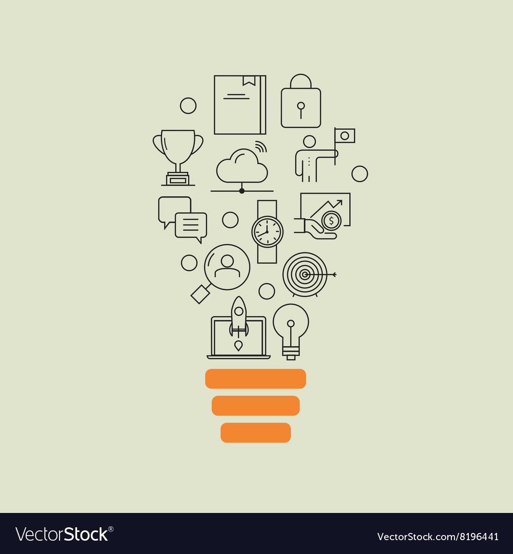 Business development successful career office vector image