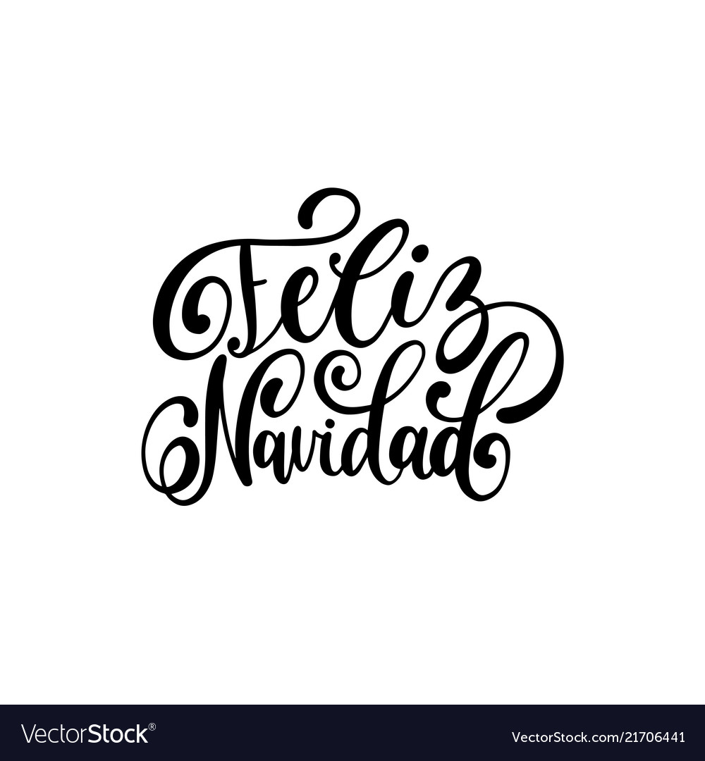Feliz navidad translated from spanish merry