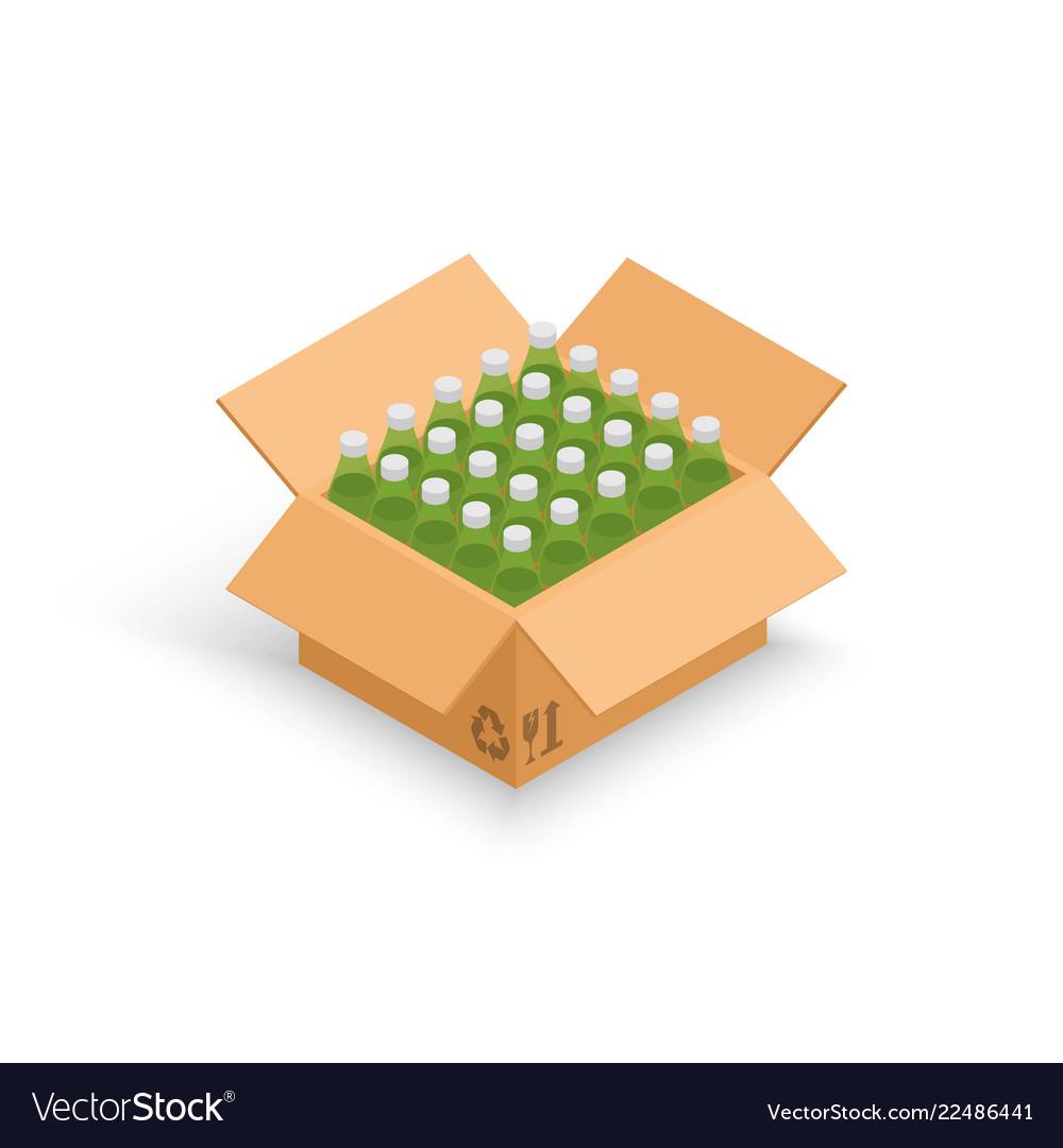 Wine bottles cardboard box