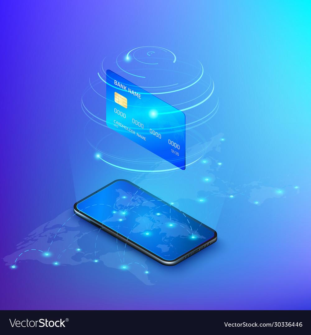 Banking online service money transfer or online