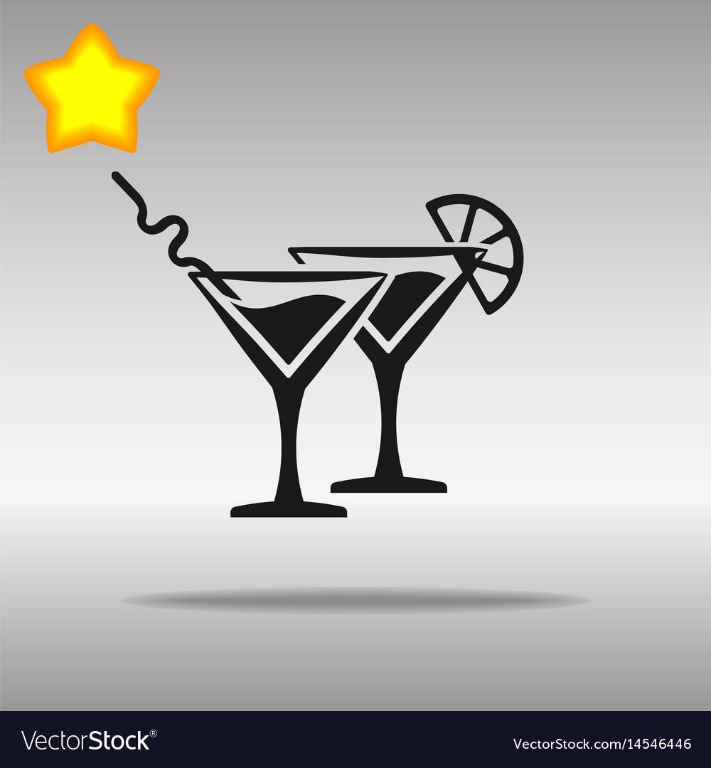 Cocktail black icon button logo symbol