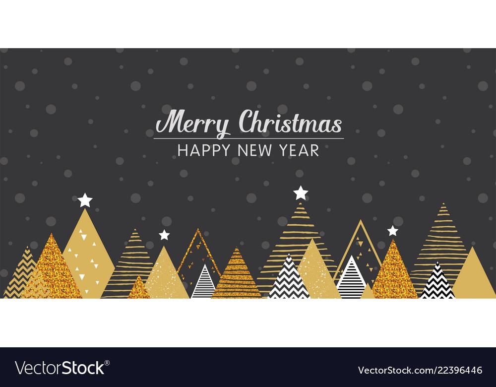 Golden abstract christmas winter scene christmas