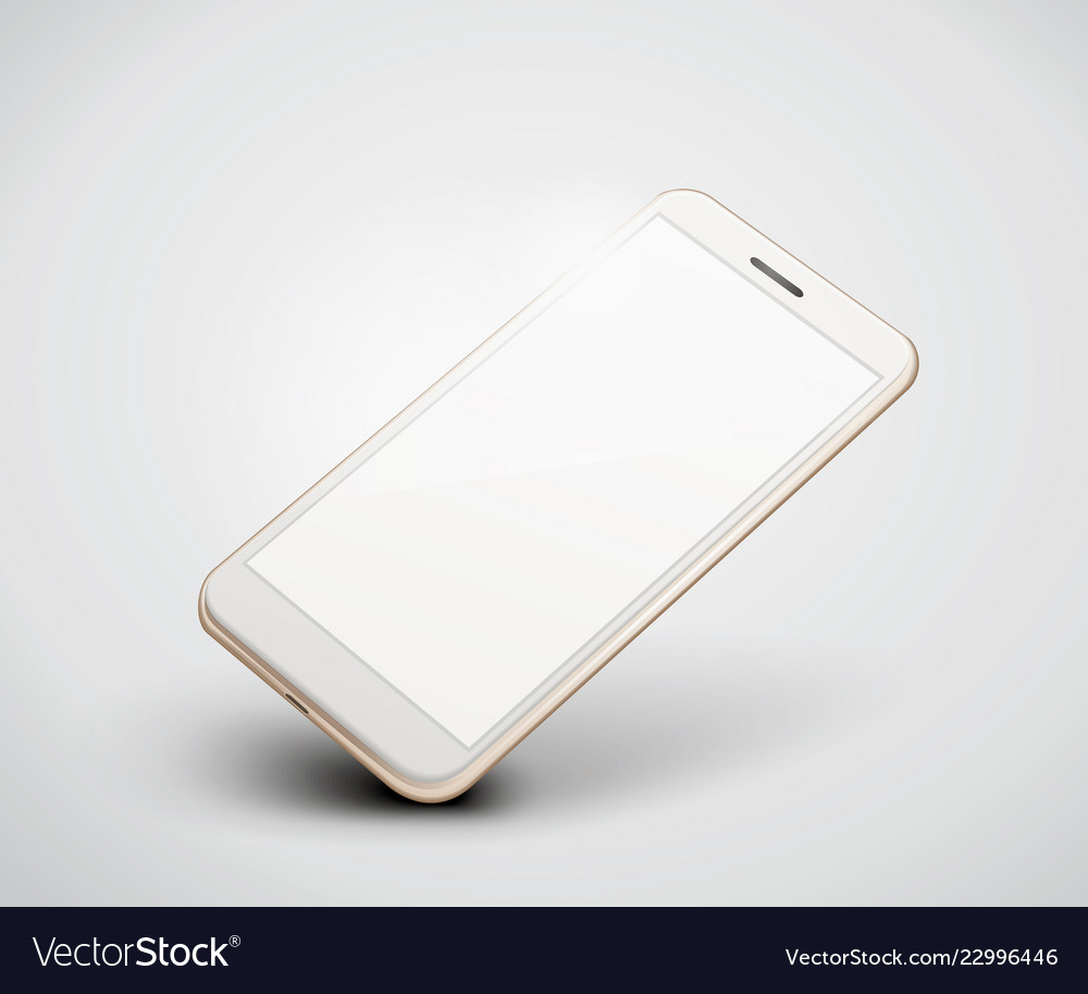 Realistic perspective smartphone mockup