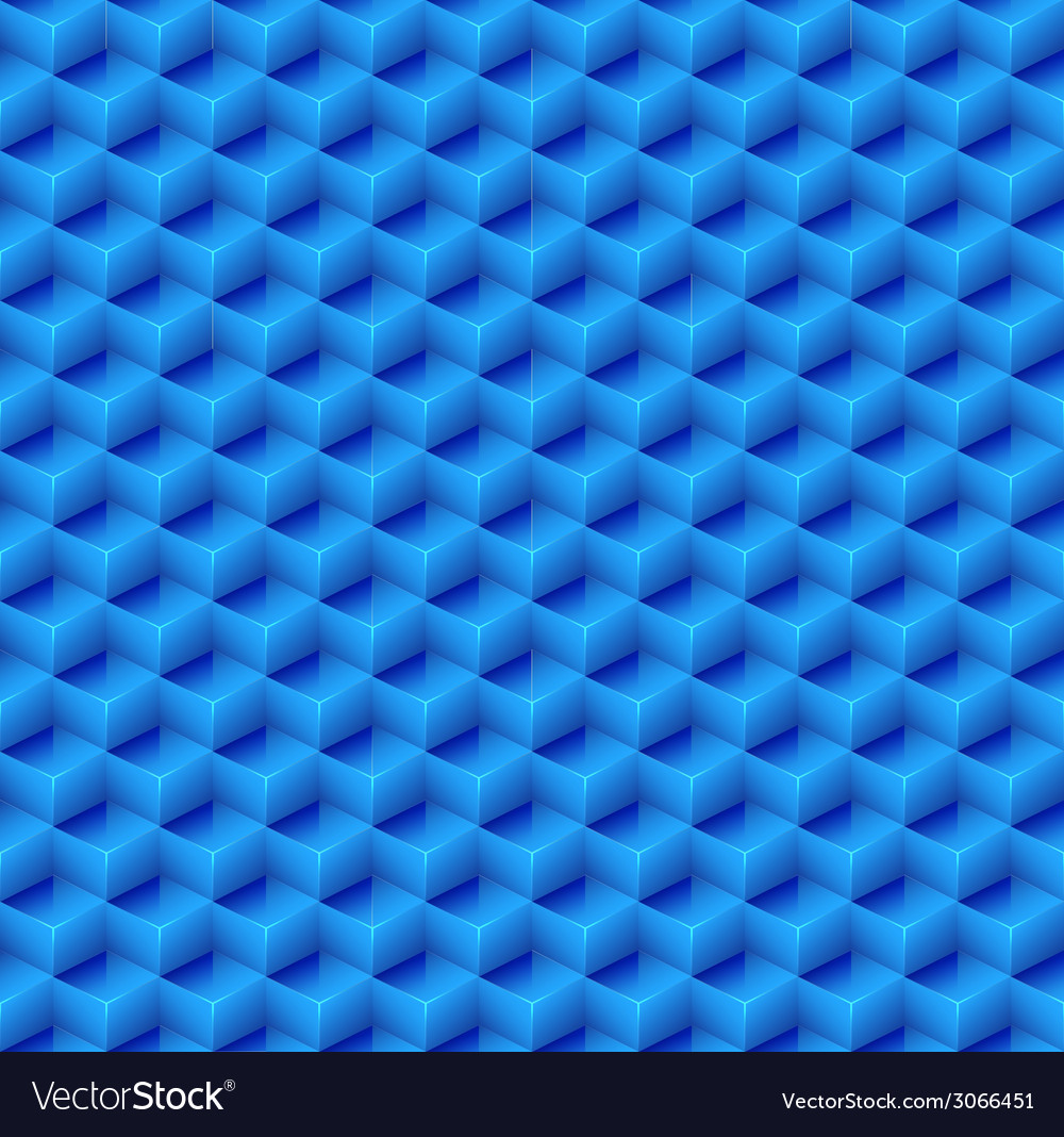 Abstract Seamless Blue Cube Background