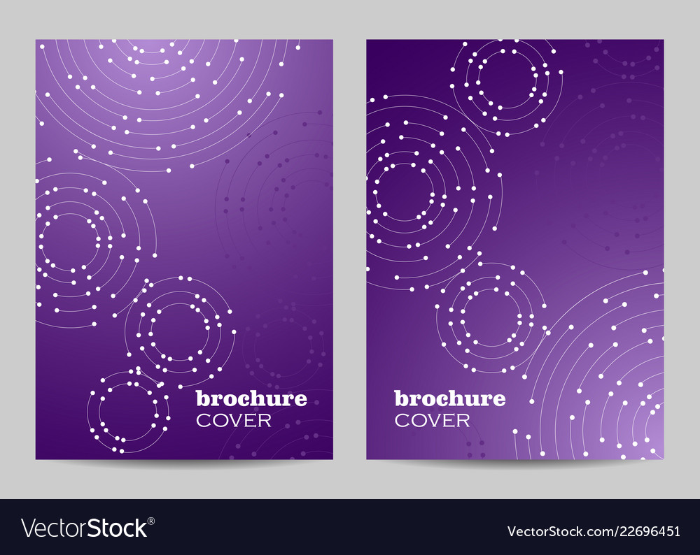 Brochure template layout design geometric pattern