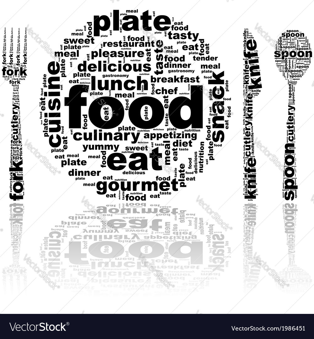 Food word cloud