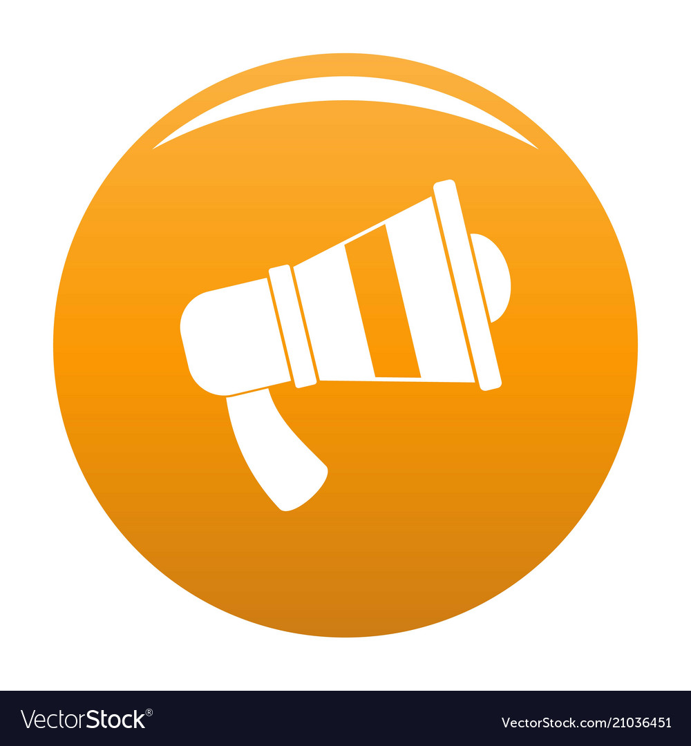Megaphone icon orange royalty free vector image megaphone icon orange vector image publicscrutiny Gallery