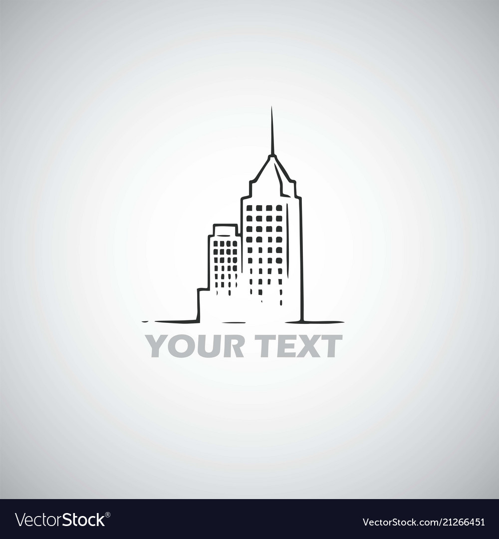 Real estate building logo template skyscraper