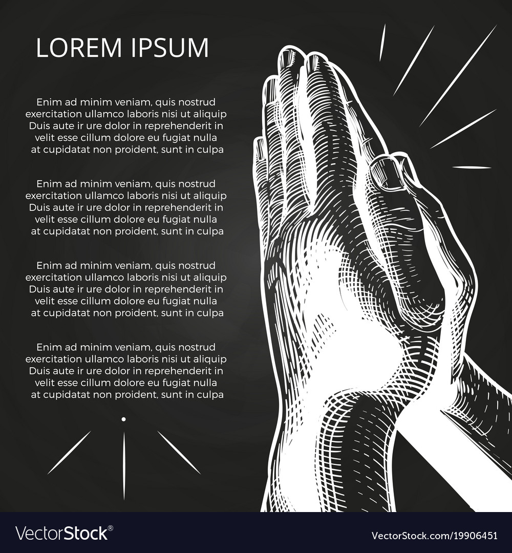 White praying hands prayer on bible