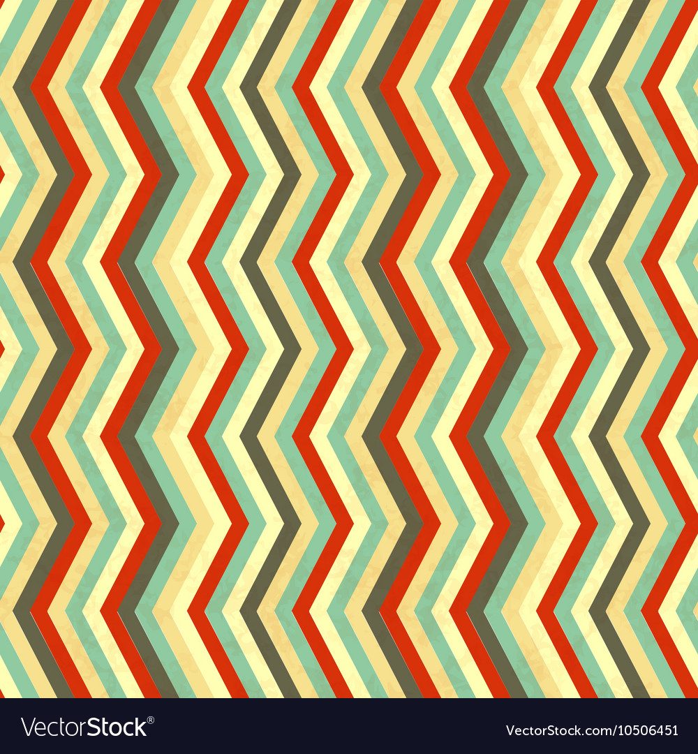 Zigzag stripes in retro colours seamless pattern