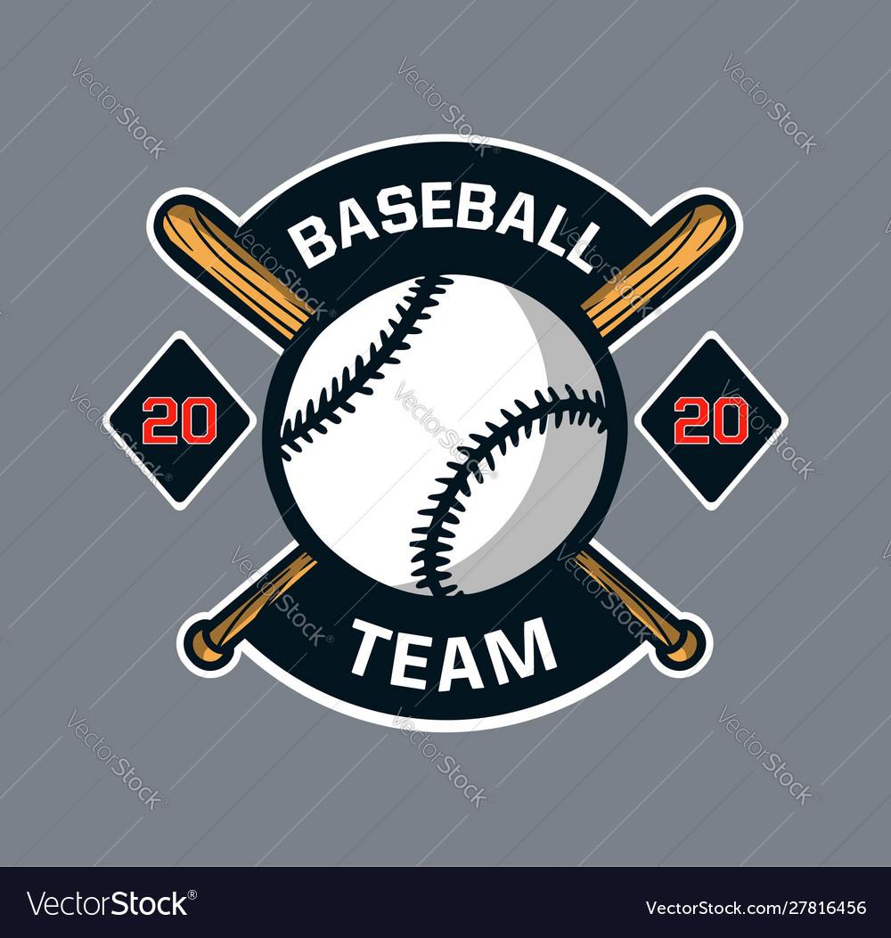Baseball badge logo emblem template team club