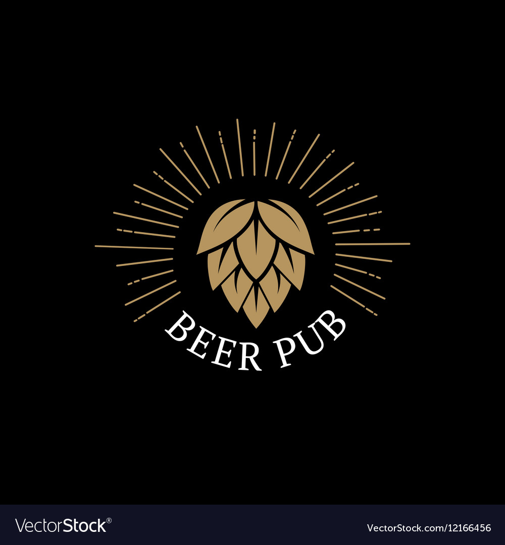 Beer Pub hand drawn lettering logo label badge for