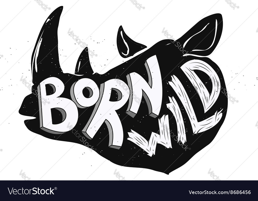 Born wild rhino