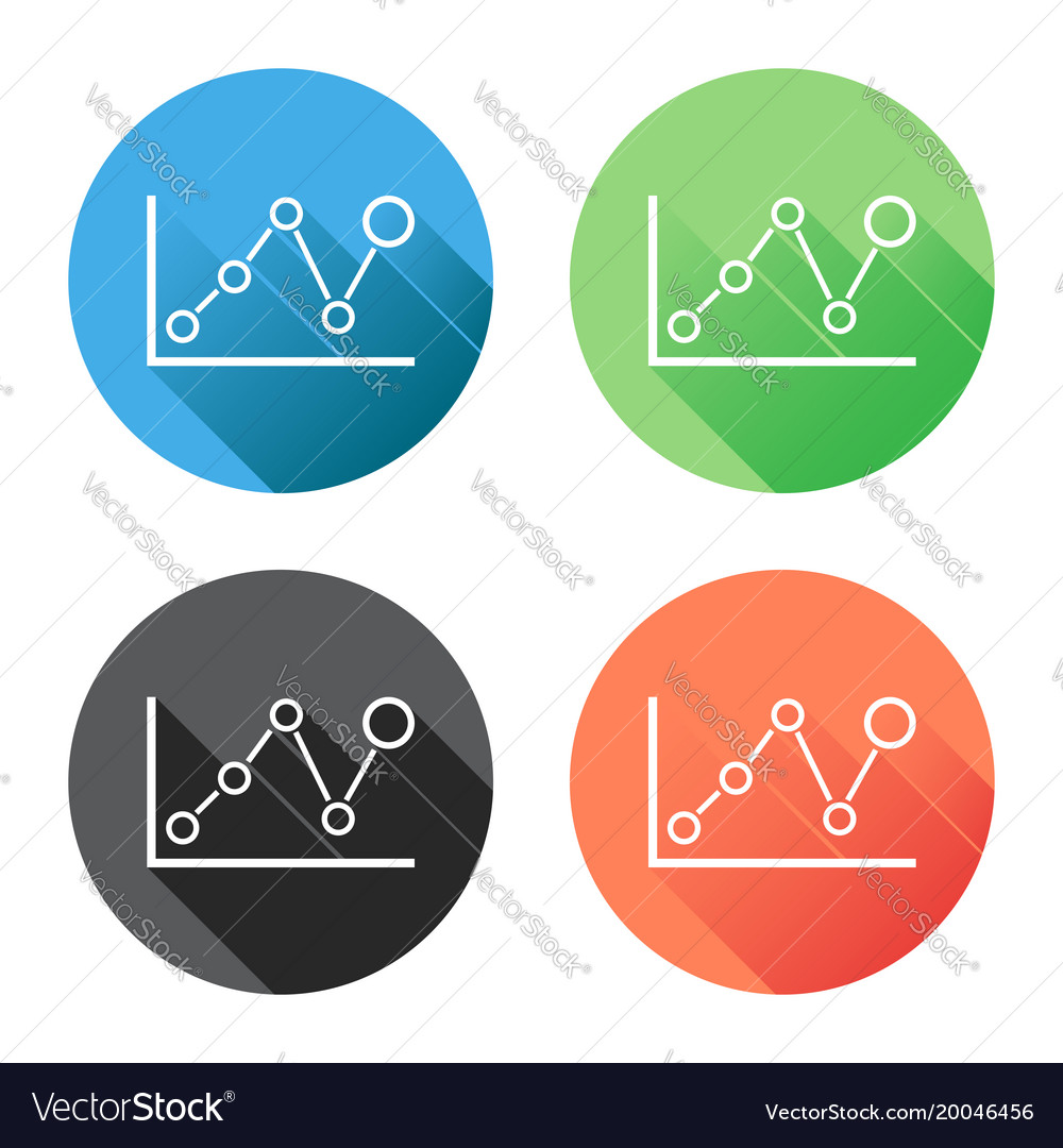 Long Shadow Diagram Diy Enthusiasts Wiring Diagrams 1986 Honda Chart Graph Icon With Business Flat Vector Image Rh Vectorstock Com 2004 Clutch Vt1100 And Electrical