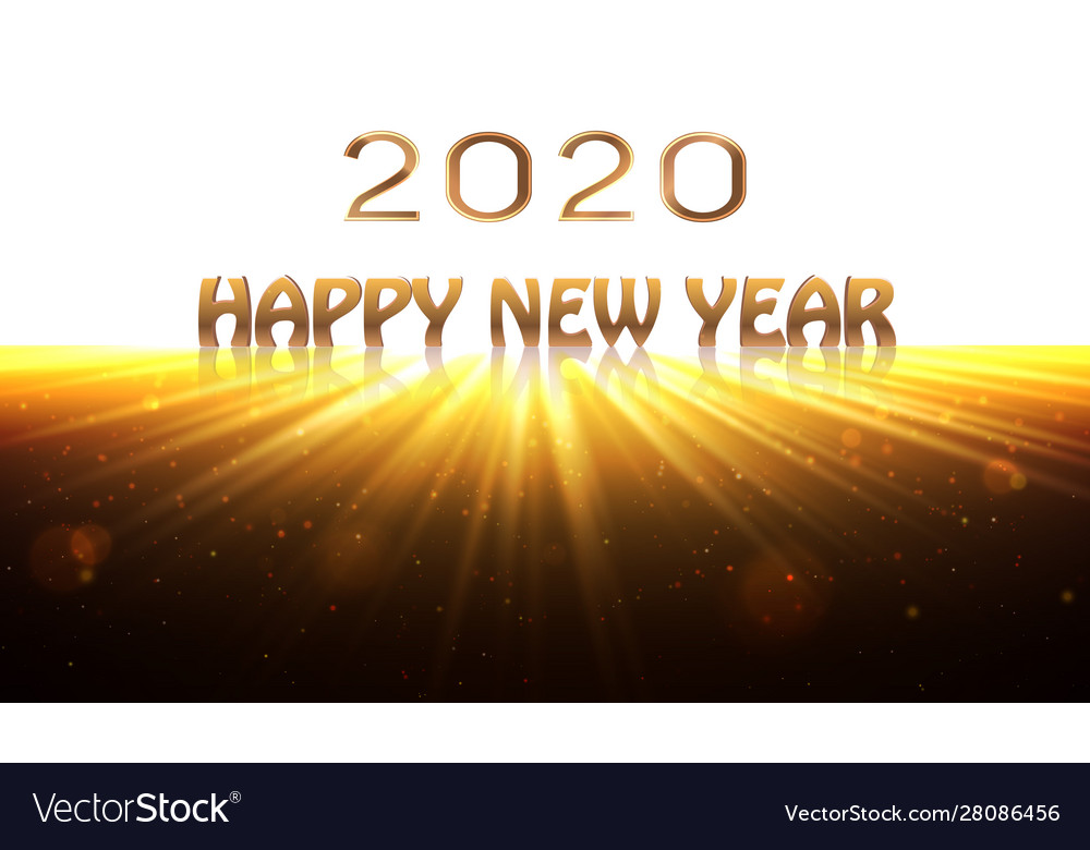 Happy new year 2020 banner sunrise background as