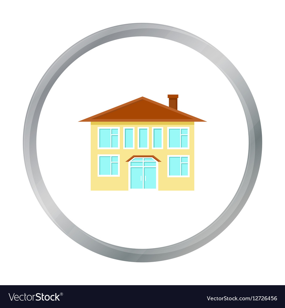 House icon cartoon Single building icon from the
