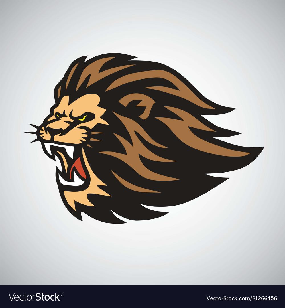 Retro lion logo design