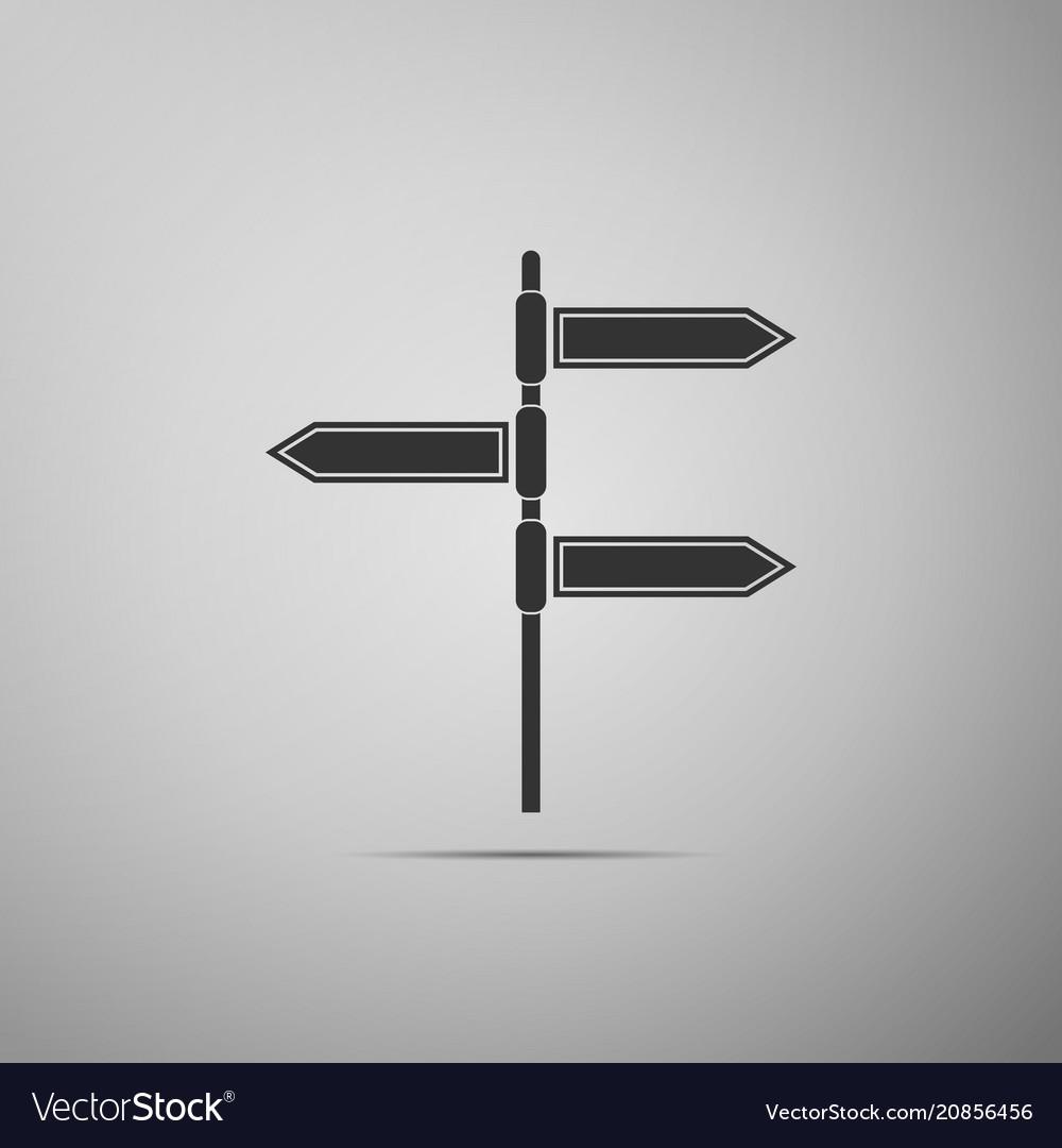 Road traffic sign signpost icon pointer symbol