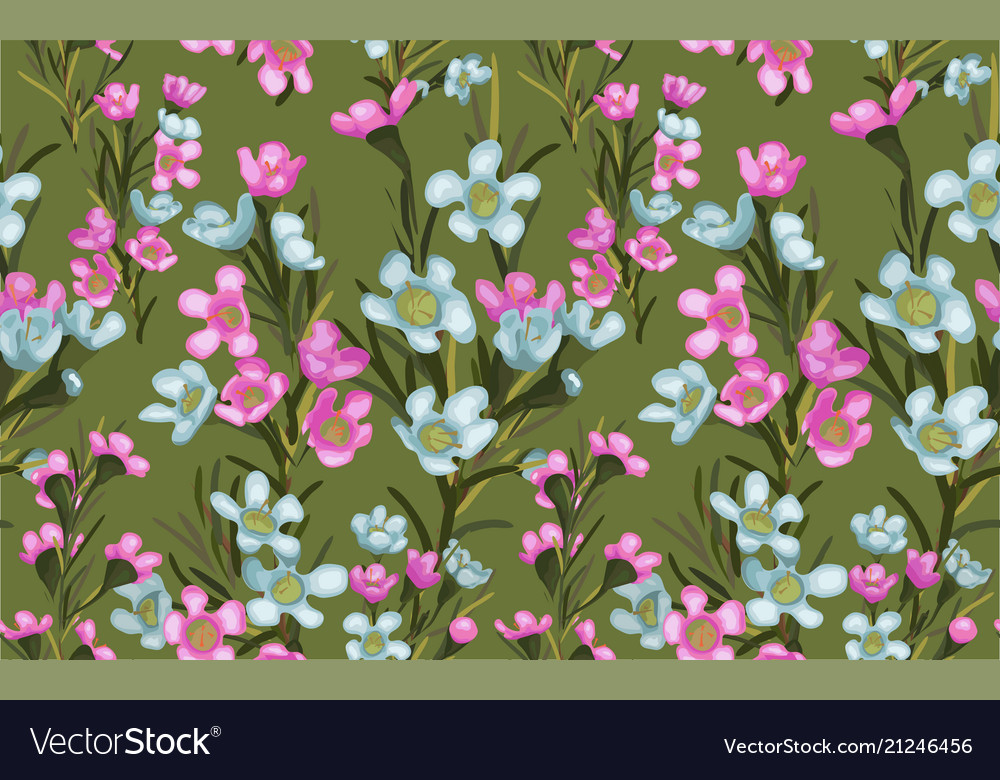 Wide vintage seamless background pattern blue and