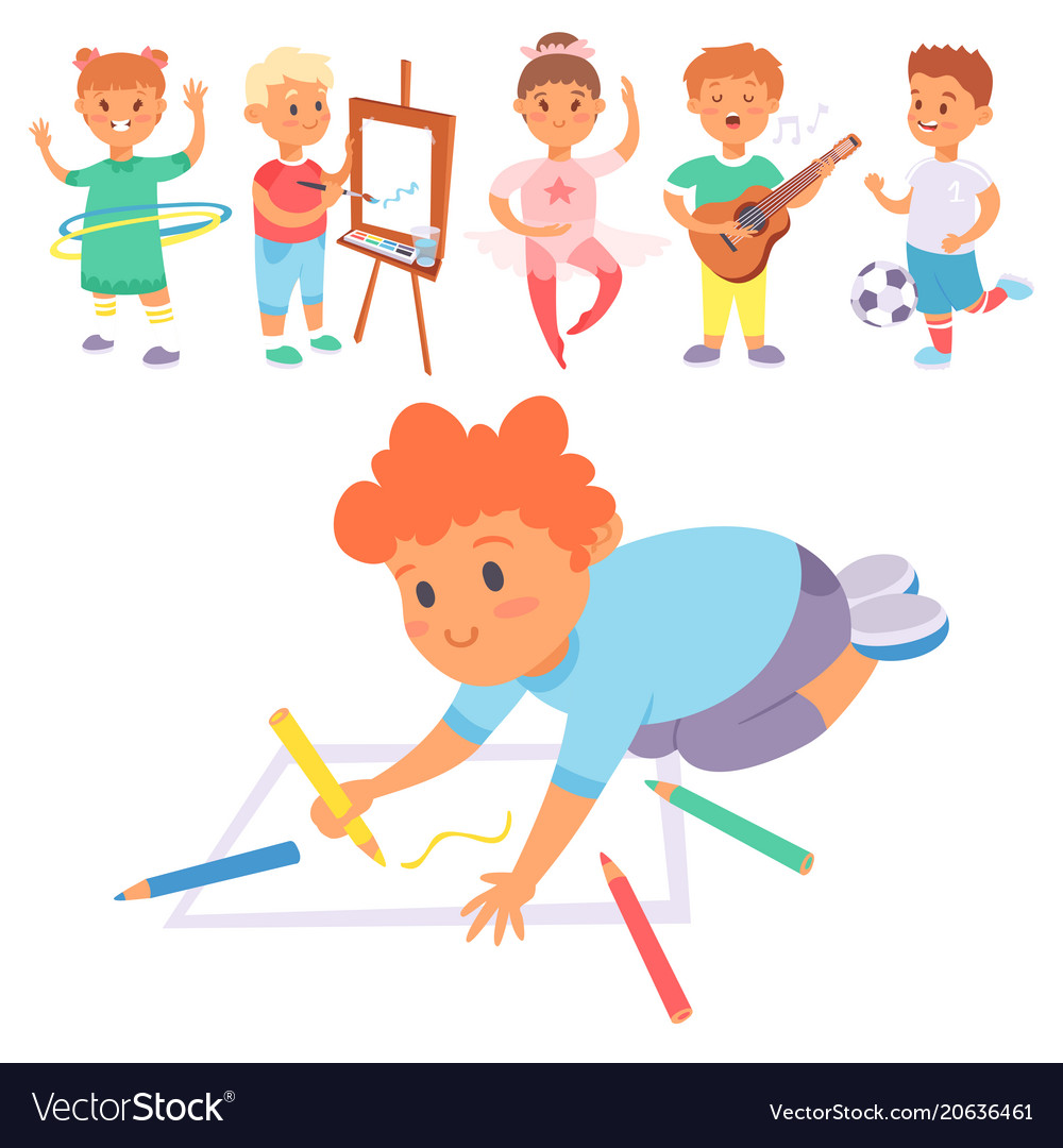 Why Are Kids Different At Home And At >> Children Playing Different Types Of Home Vector Image