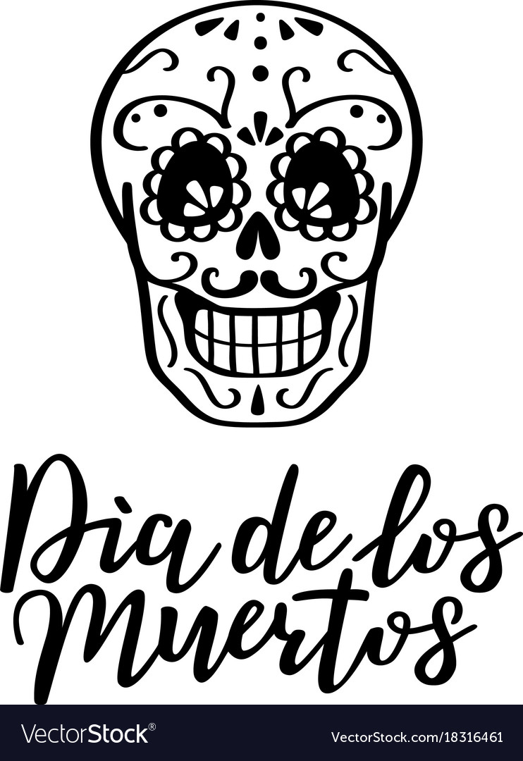 Day of the dead vector image