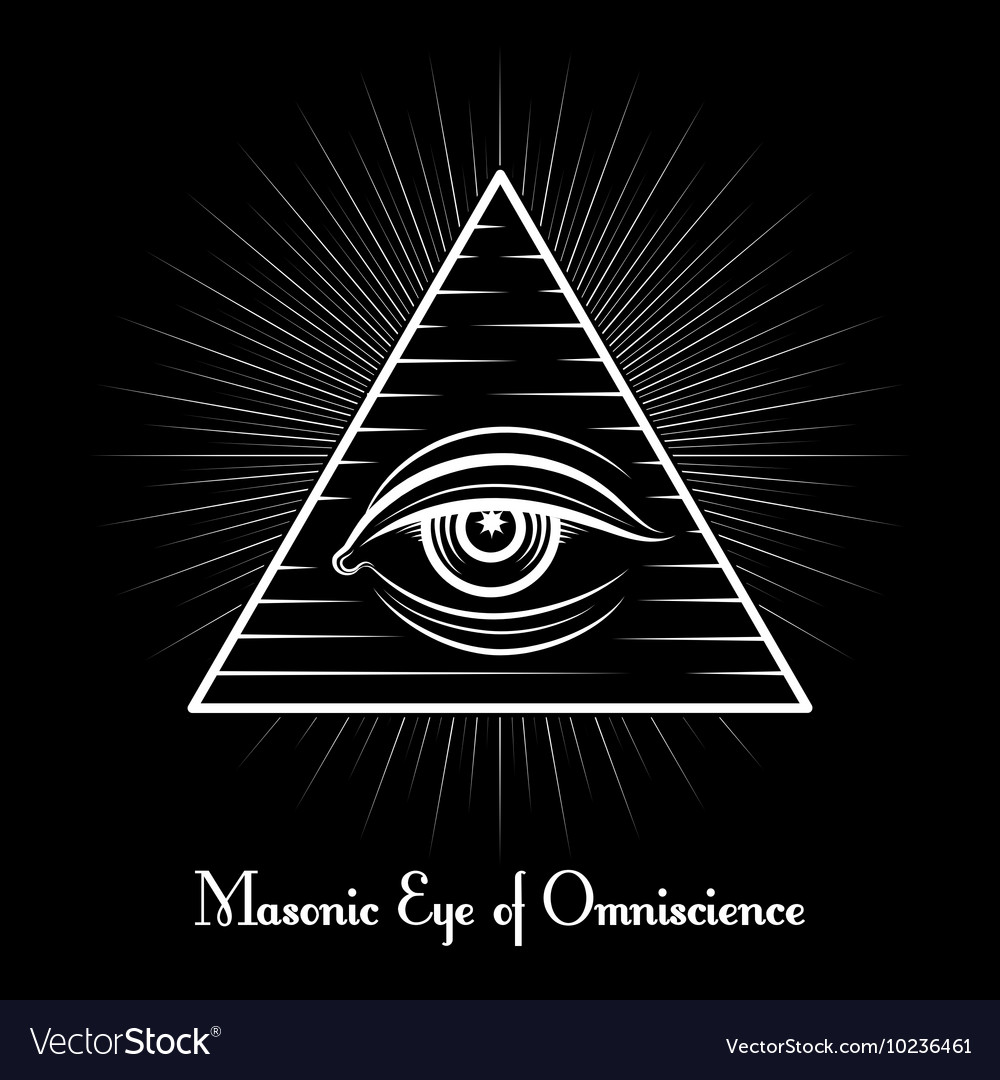 Omniscience All seeing eye symbol vector image