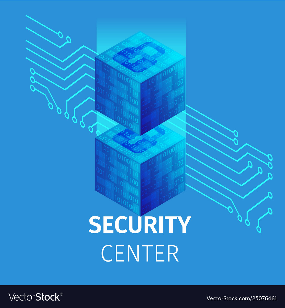 Security center square banner big data processing