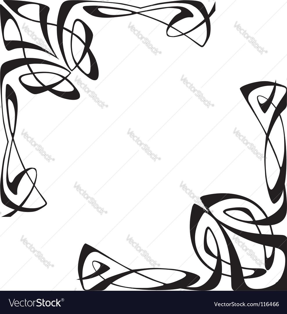 Art deco corners vector image