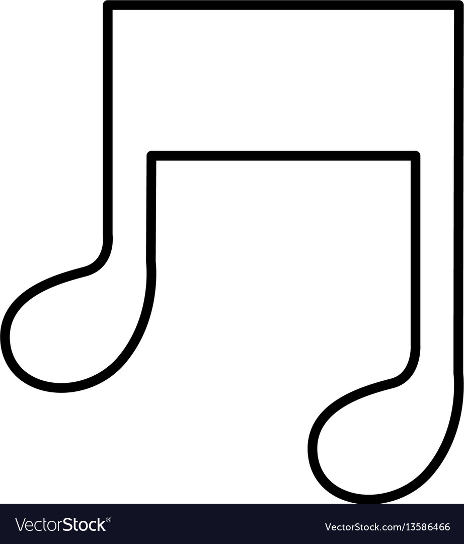 Figure music sign icon vector image