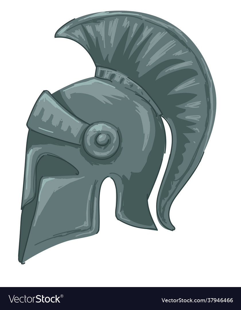 Metal helmet used for battle and fights antiquity