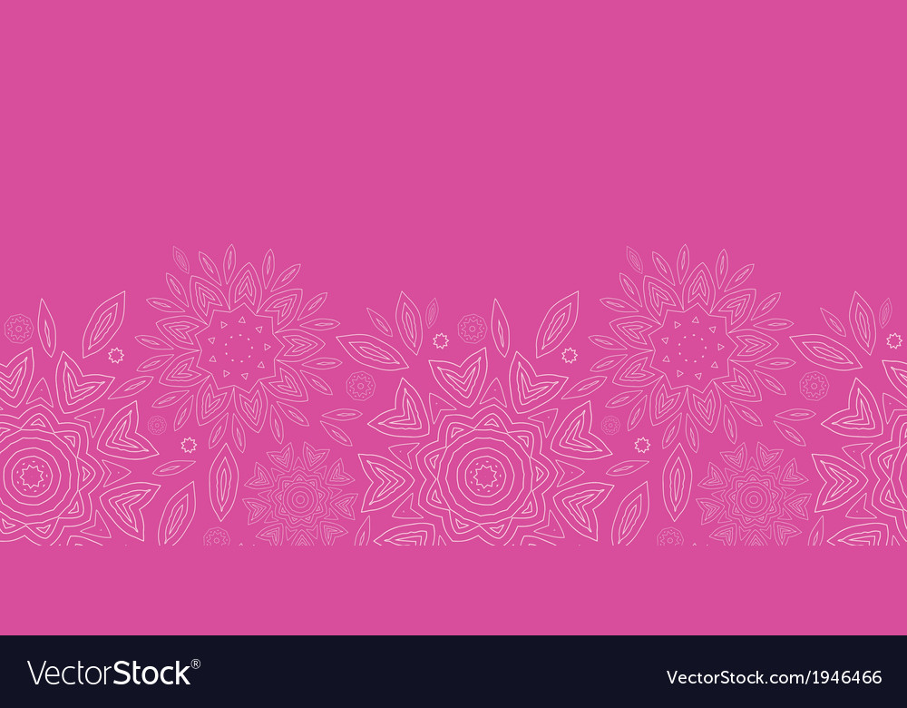 Pink abstract flowers texture horizontal seamless