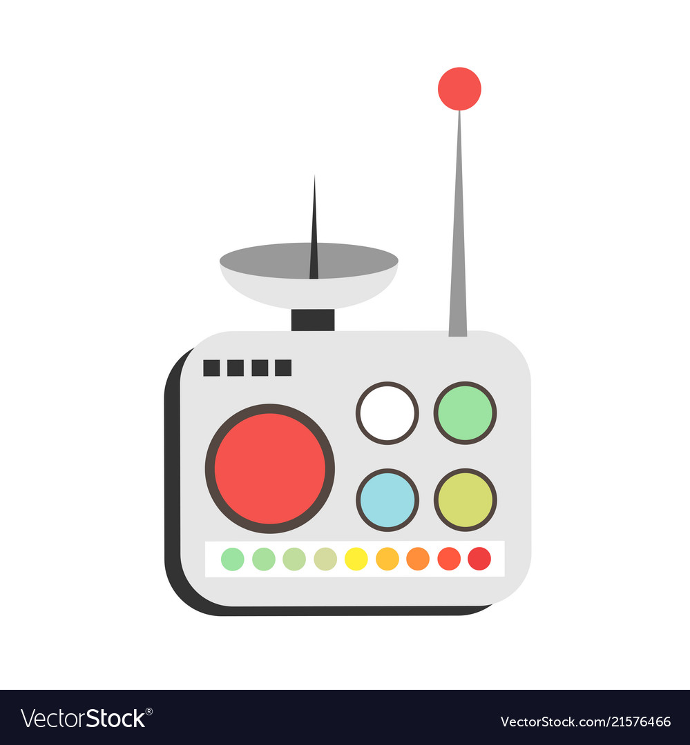 Remote Control Infrared Controller Symbol Time Vector Image