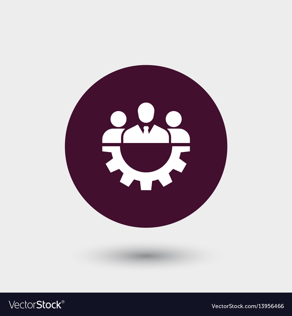 Teamwork icon simple vector image