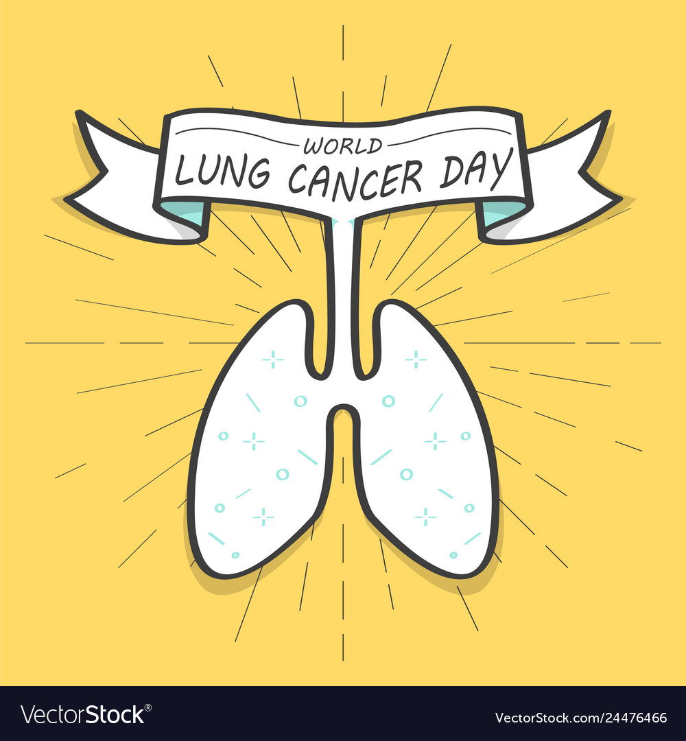 World lungs cancer day colorful old banner