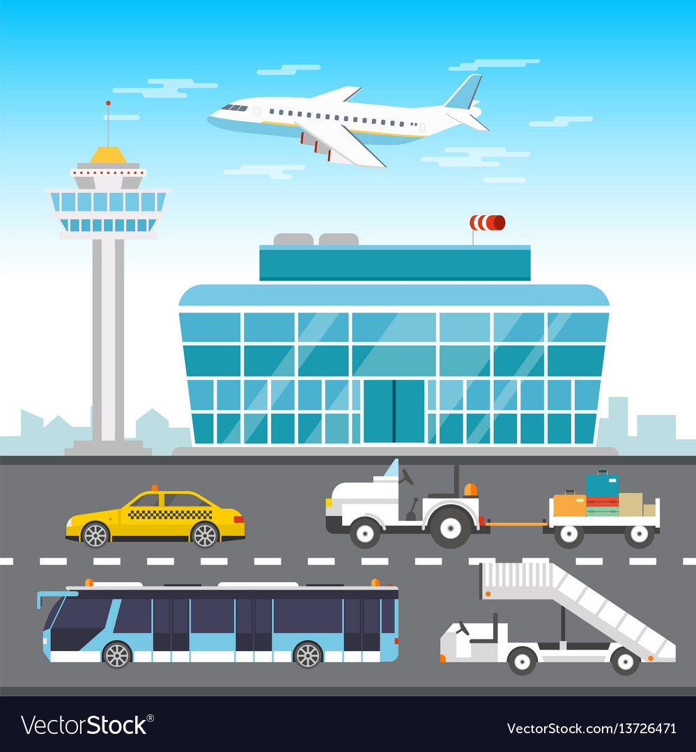 Airport infographic elements