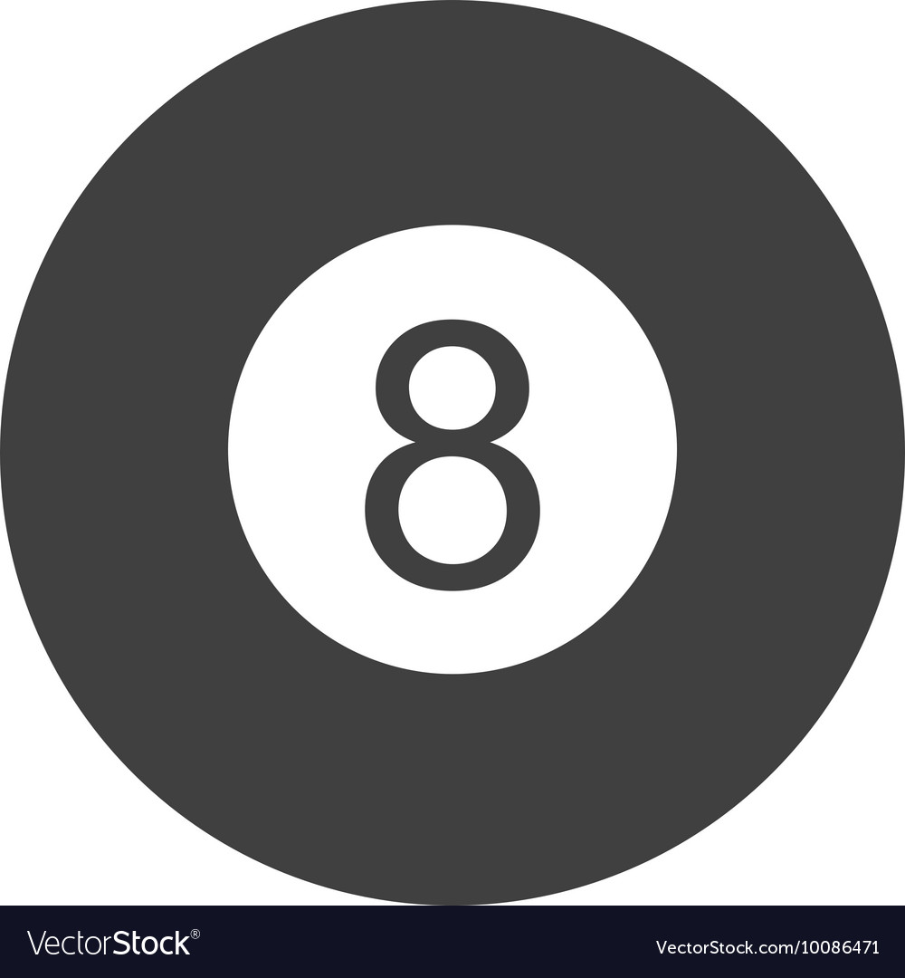 Ball number eight billiard icon