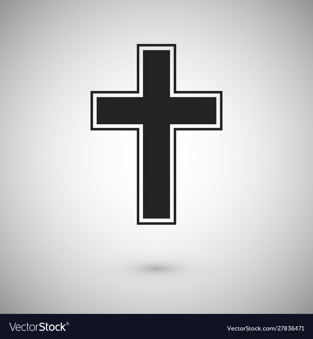 Black cross with stroke symbol and sign of